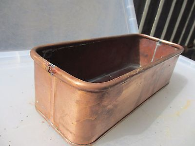 Vintage Copper Trough Tub Planter Plant Pot Antique Window / Garden Old Urn