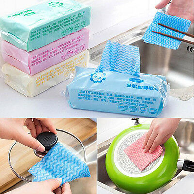 80Pcs Non-woven Disposable Dry Towel Dishcloth Rag Oil Wiping Absorbent Cleaning
