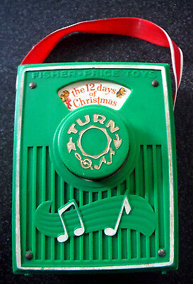 Vtg 1973 Fisher Price #756 Toys The 12 Days of Christmas Music Box Pocket Radio