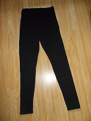 H&m Quality Black Full Length Maternity Over The Bump Leggings Size L Approx Siz