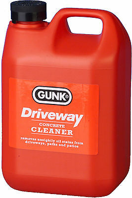 Gunk Driveway Concrete Tarmac Path Patio Garage Floor Cleaner Degreaser 2Litre