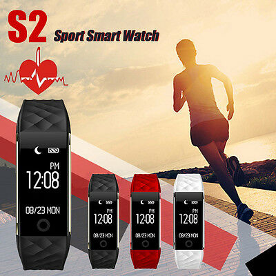 Sport Fitness Tracker Bluetooth Smart Heart Rate Monitor Pedometers Wrist Watch