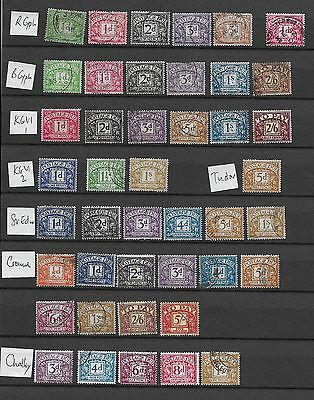 1912/60 Gb Postage Dues Excellent Selection Of 43 Different  Vfu (2)
