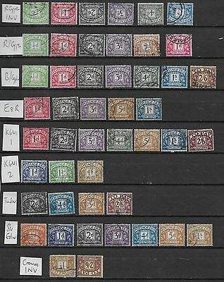 1912/60 GB POSTAGE DUES EXCELLENT SELECTION OF 65 DIFFERENT to £1 VFU (1)
