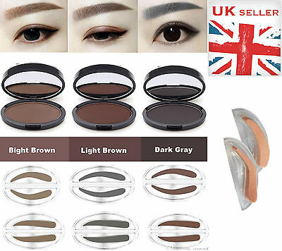UK Eyebrow Shadow Stamp Makeup Definition Eye Brow Cosmetic Powder Palette Shape