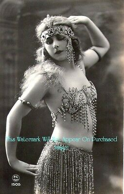 Old VINTAGE Antique Simply GORGEOUS BELLY DANCER 4 Photo Reprint