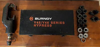 Burndy Y46 Hypress Hydraulic C-Type Crimper w/ 14 U and 2 P Dies - Flex Crimping