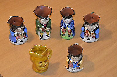 Torquay Ware Toby Jugs lot of 6 Various makers