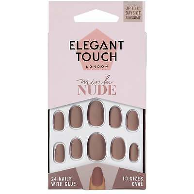 Elegant Touch False Nails - Mink Nude (24 Pack, 10 Sizes)