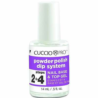 Cuccio Pro Powder Polish Dip System - Nail Base & Top Gel (Steps 2 + 4) 14ml