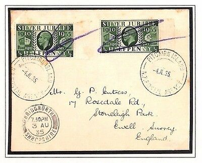 AP1935.2 GB Used Abroad PITCAIRN IS. KGV-Jubilees/GB Salop Bridgnorth
