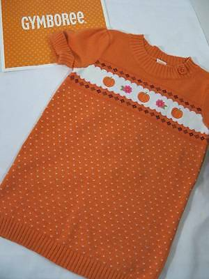 ~Gymboree~ Girls Size 7 8 BUTTERFLY GIRL Orange Pumpkin Fall Sweater