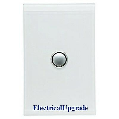 Clipsal Switches Saturn Offer 1 Gang Led Push Button 4061PBL PW (Pure White)