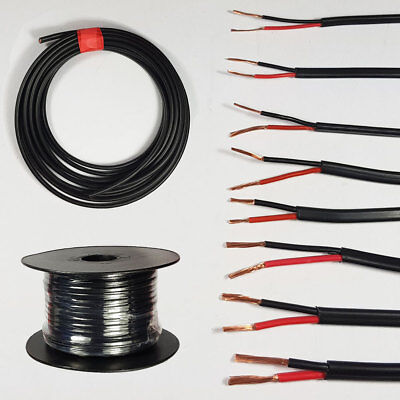 Automotive 12V 24V  Twin Core 2 Thinwall Red/Black Auto Cable Wire Wiring Loom