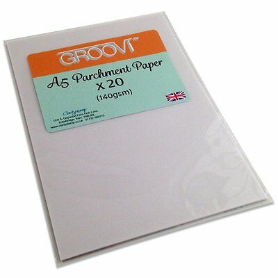 Clarity GROOVI A5 PARCHMENT PAPER x 20 Sheets GRO-AC-40020-XX 140gsm 148 x 210mm