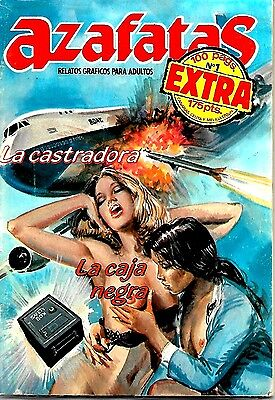 Spanish 1980's Illustrated Erotic Magazine Azafatas Extra  #1 Fine