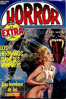 Spanish 1970's Illustrated Erotic Magazine Horror Extra #1 Fine