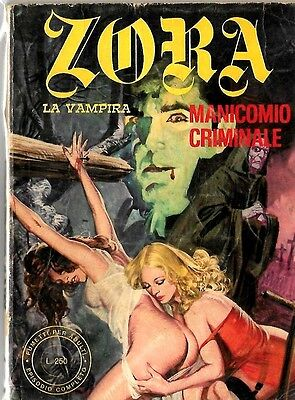 Italian 1970's Illustrated Erotic Digest Comic Zora La Vampira #37 Vg