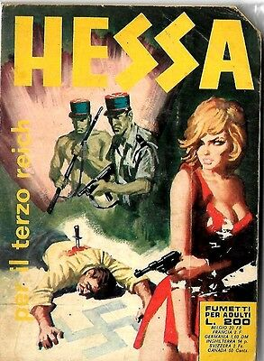 Italian 1970's Illustrated Erotic Digest Comic Hessa #22 Vg