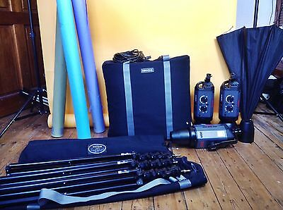 Bowens Gemini 500 Studio Lights, Manfroto Stands, Carry Cases, Backdrops & More