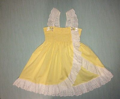 Vintage Girls Yellow Ruffled Summer Top 6X MADE IN USA!!!!!