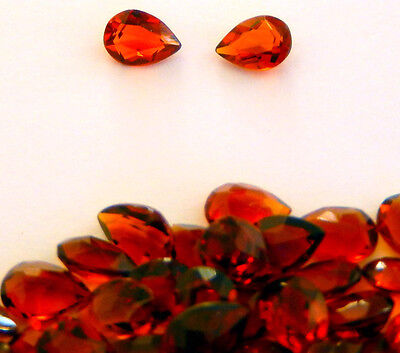 Golden Shades of Citrine Assorted Pear Shapes - Faceted Stones-  1 pc.