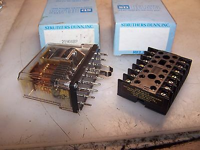 New Struthers Dunn Latching Relay 219Dxbp With Base 333777  24 Vdc