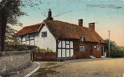 POSTCARD   CHESHIRE    GRAPPENHALL   Post  Office