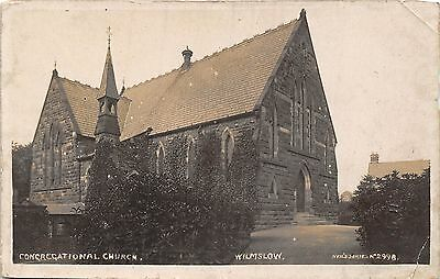 POSTCARD   CHESHIRE   WILMSLOW     Congregational  Church