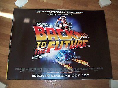 Back to the Future original Cinema quad poster DS  FULL SIZE Michael J Fox 25th
