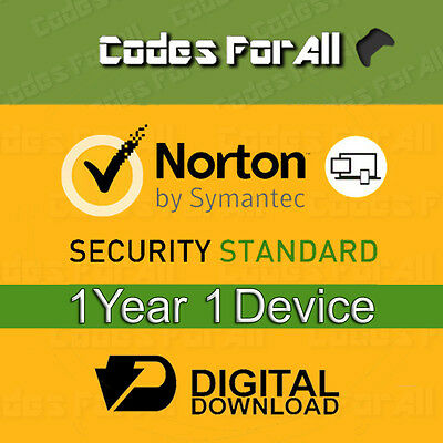 Norton Security Standard 2016/17 1 Year 1 Device Licence Key Only