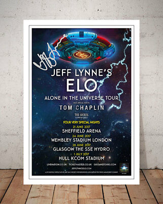 Jeff Lynne Elo Alone In The Universe 2017 Concert Flyer Signed Photo Print