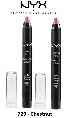 3 Pack of NYX Cosmetic Jumbo Lip Pencil - JLP729 - Chestnut