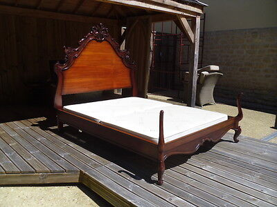 Antique Tudor Style Carved Oak Four Poster Bed Bylaw 4 Poster King Size