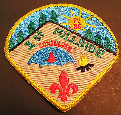 Boy Scouts Canada Provincial Jamboree 1985 B,c. 1St Hillside  Embroidered Patch