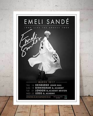 Emeli Sande Long Live The Angels Tour 2017 Concert Flyer Autograph Signed Print