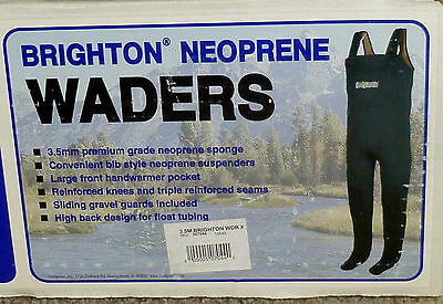 New Hodgman Brighton Neoprene 3.5mm Fishing Bib Chest Waders #13545, Sz Large