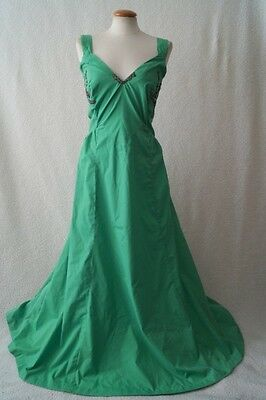 Vintage ex theatre green ball evening cocktail dress Size 10