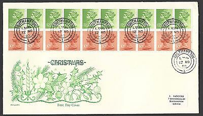GB 1980 Machin Christmas booklet pane of 20 FDC [ref e3574] We will combine post