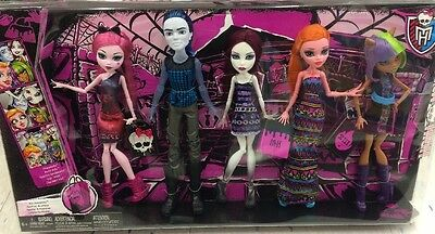 NEW LOOSE Monster High Maul Monsteristas Deluxe Doll 5 LOT VHTF removed from box