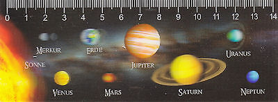 3D - Lineal: die Planeten des Sonnensystems - the planets of the Solar System