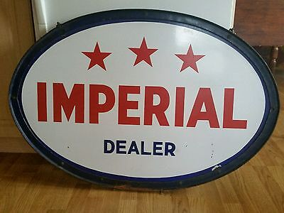 """Vintage advertising imperial oil gas station sign 40""""large"""