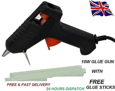 Hot Melt Glue Gun Trigger Electric Adhesive Sticks For Hobby Craft Mini Diy Uk *