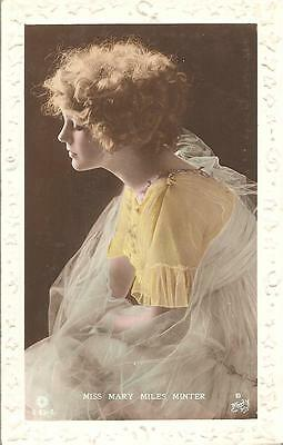 Rare Early Vintage  Rotary Postcard,actress,miss Mary Miles,minter,1920,rp
