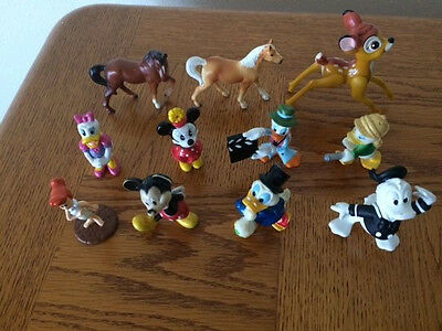 Lot Of Vintage Assorted Disney & Miscellaneous Figurines - Assorted Pvc/ceramic