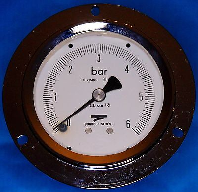 Manomètre 6 bar de pupitre - Pressure gauge 6 bar of console  MML3 B20 B20  Bour