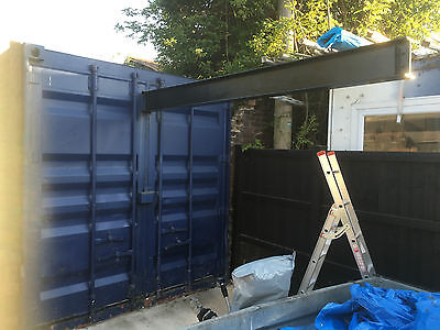 CONTAINER/WORKSHOP WITH RSJ 20X8ft WITH 2 TON ROLLER HOIST