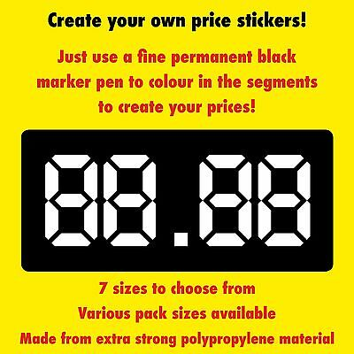 Price Labels / Stickers - Create Your Own Prices - 7 Sizes