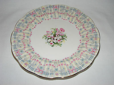 "Queen Anne Royal Bridal Gown  8"" Salad/ Cake Plate - Fine Bone China - England"