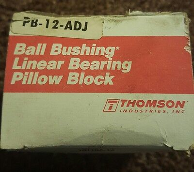 *NEW* Thomson PB-12-ADJ Linear Pillow Block Bearings